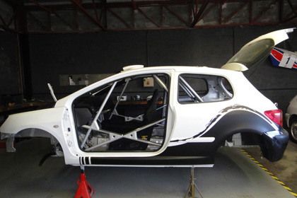 rallye car body shell